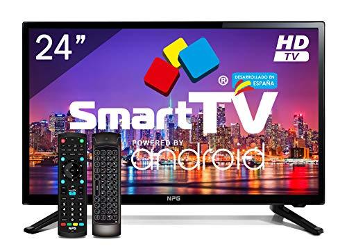 petit un compact 24 pouces NPG LEDTV Smart TV Android 7.1 HD PVR WiFi Bluetooth TDT2 H.265
