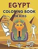 Egypt Coloring Book For Kids: Ancient Egyptian Gods Children Preschool Symbols Mummies Boys Girls Relaxation Activity