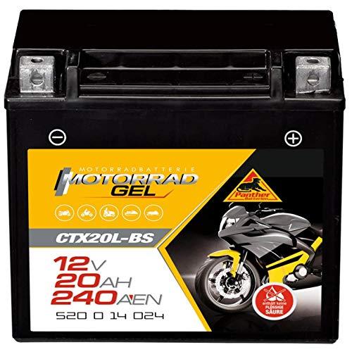Panther YTX20L-BS Motorrad Batterie GEL 12V 18Ah CTX20L-BS Erstausrüsterqualität