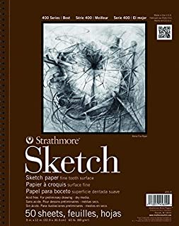 Strathmore 400 Series Sketch Pad, 11 x 14 Inches, White, 50 Sheets