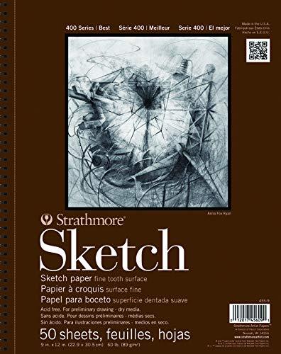 Strathmore 455-11 400 Series Sketch Pad, 11