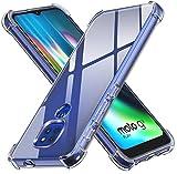 ivoler Funda para Motorola Moto G9 Play/Moto E7 Plus/Moto G9, Carcasa Protectora Antigolpes Transparente con Cojín Esquina Parachoques, Flexible Suave TPU Silicona Caso Delgada Anti-Choques Case