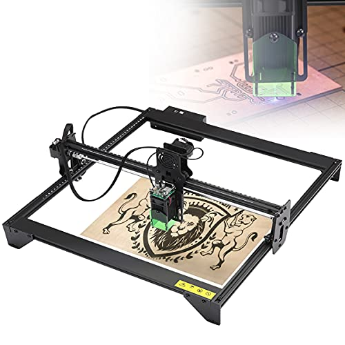 RCBDBSM Laser Engraver, 20W Laser Engraving Machine, Wood Carving Desktop Printer Logo Picture Marking, Apply to Wood, Bamboo, Acrylic, Leather, 2-Axis XY Working Area 41 x 40cm