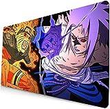 Naruto Mouse pad Anime gran escritorio pad ordenador teclado pad Naruto Uzumaki Naruto Sasuke Gaming Mouse pad Alfombrilla de mesa Alfombrilla de juego? 70?