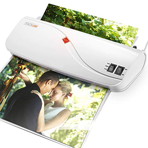 Thermal Laminator Hot amp Cold Laminating Machine with Two Heat Settings ABS Button 3 Min Fast Warmup for Office/School/Home  10 Laminator Pouches 4A4 3A5 3Card Films Included MTL01