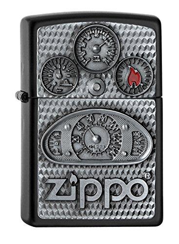 Zippo 2005720 Feuerzeug, Messing, Schwarz, 5.5 x 3.5 x 1 cm