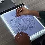 Fighrh Le Nouveau Clip + A4 Planche à Dessin LED écriture Peinture boîte à lumière USB alimenté Tablette Copyboard Toile Vierge pour la Peinture Outil (Taille : (B) No Dimming)