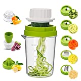 Best Spiralizers - MENNYO Vegetable Spiralizer 8 in 1, Spiraliser H Review