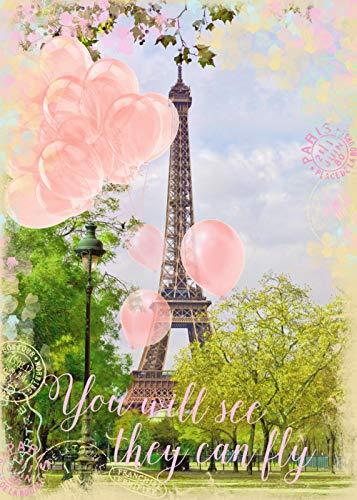 Paris Romantic Balloon Jigsaw Adult 1000 puzzels, familiepuzzels, houten puzzels, educatieve spellen, intellectuele uitdagingspuzzels, uitdagingsspellen