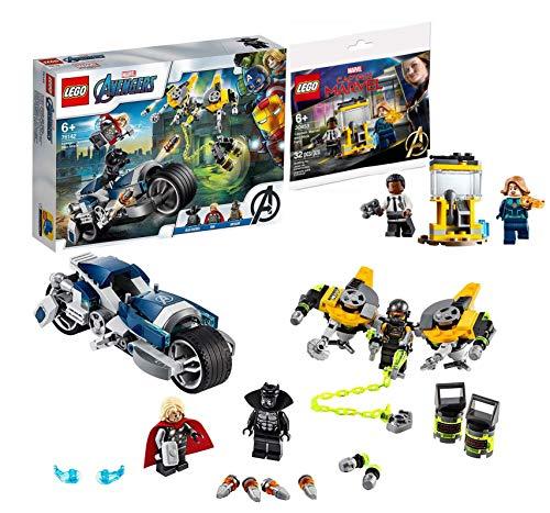 Lego Marvel-Set: 76142 Marvel Super Heroes Avengers Speeder-Bike Attacke + 30453 Captain Marvel und Nick Fury 2020 Limited Edition Polybag, ab 6 Jahren