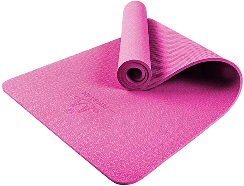 JMTLLYJD Yogamatte, Anfnger Damen Yogamatte Rutschfeste Herren Sportmatte Fitnessmatte Verbreiterte Verdickung Pilates Matte 183 × 66cm, Dicke 10mm