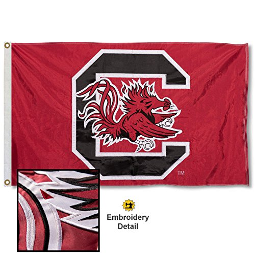 College Flags & Banners Co. South Carolina Gamecocks Embroidered and Stitched Nylon Flag