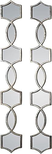 discount Uttermost 2021 12856 Vizela wholesale Metal Mirrors (Set of 2), Silver sale