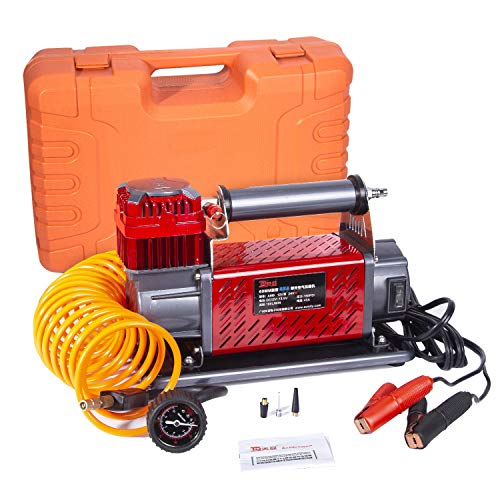 tianya TY AM9 Heavy Duty 4x4 Off Road Air Compressor,(150PSI)(160L/Min),Multiple Functions Portable Air Pump,24v DC Tire Inflator,by for Off Road Vehicles, Trucks, RVs, Bikes (DC 24V)