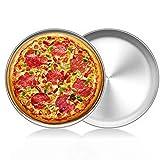 LZYMSZ Horno de acero inoxidable de 2 piezas para hornear, bandeja redonda para hornear pizza (30CM)