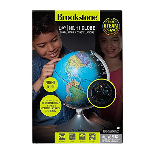 Brookstone Globe for Kids Interactive Light Up World and Constellation Globe