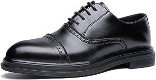 Men's Business Oxford Casual Fashion Retro Brush Colour Classical Pointed Brogue Shoes casual shoes (Color : Black, Size : 39 EU)