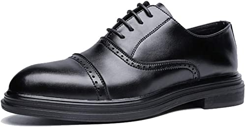 XHD-Chaussures Simple Affaires Oxford Décontracté Fashion Retro Retro Brush Chaussures Pointues Brogue pour Hommes (Couleur   Noir, Taille   43 EU)  authentique en ligne