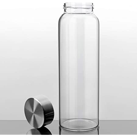 if bag Wenburg gourd//glass bottle with bamboo lid 550 ml