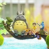 Hbche Mini Totoro Figurine Jouets Kit Miniature Jardin Micro Totoro Paysage Décorations Ornement for l'artisanat et Maison Chambre Table Décor Chambre Filles Enfants Meilleur Cadeau de Noël