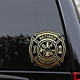 Retired Firefighter Decal Sticker EMS Fire Rescue Medic Car Window
