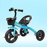 LVZAIXI Bicicleta de montaña, Carro de bebé, Triciclo, Bicicleta para niños, Bicicleta de bebé, Coche de Juguete para niños y niñas para niños (Color : Azul)