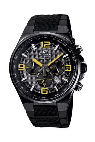 Casio Edifice Analog Quarz Chrono Herren-Armbanduhr Schwarz Gelb EFR-515PB-1A9VEF