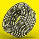 C/H Manguera de jardín, 12MM, Manguera de jardín Flexible, Perfil de Agarre eléctrico, Mantiene su Forma, Textil de Malla Espiral, presión de ráfaga de 25 Bar, con Partes del Sistema