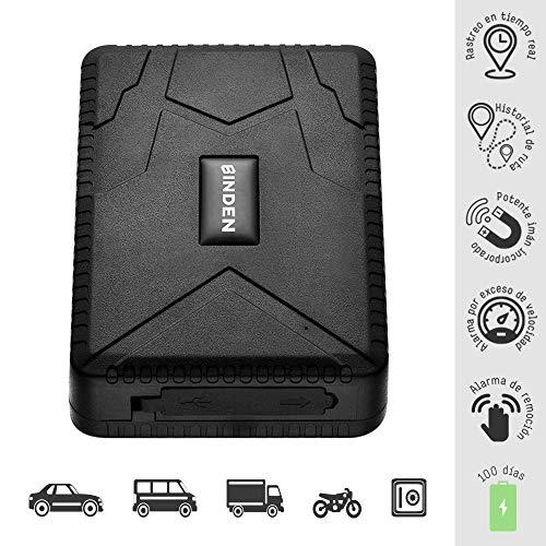BINDEN Rastreador GPS TK915 para Auto o Camión, Potente Imán, Micrófono, Batería por hasta 120 Días,…