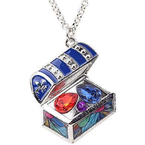 XCLWL Esmalte Cristal Caja del Tesoro Collar Colgantes Collar Cadena Joyería De Moda para Mujeres Adecuado para Reuniones Deportes Al Aire Libre Viajes Etc-3