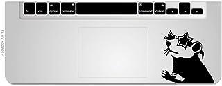 カインドストア MacBook Air / Pro マックブック ステッカー シール 星 メガネ ラット トラックパッド Trackpad  Star Glasses Rat M637