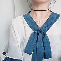 Wvfguj ネックレスS925スターリングシルバーネックレスパールキャットネックレスガールペンダント鎖骨チェーン 美しいネックレス (Color : Silver)