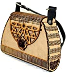 Comes with detachable & adjustable sling Unique Design These bags is perfect for a night out, date, cocktail party, family reunion, prom, banquet and so on. Handcrafted Laser Cut Stylish Fashionable Wooden Party Wear Sling Hand Bag One main compartme...