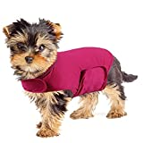 YUKOOL Anxiety Coat for Dogs, Lightweight Wrap Calming Vest, Dog Anxiety Jacket, Used to Instant Therapy for Over Excitement in Lightning and Fireworks to Keep Calming Comfort(XS,Rose Red)