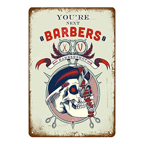 yycsqy Muurbord Retro IJzeren Schilderen Plaque Metalen Blad Vintage Barber Shop Kapsels En Reclame Board Home Muurdecoratie Gift Vintage Poster