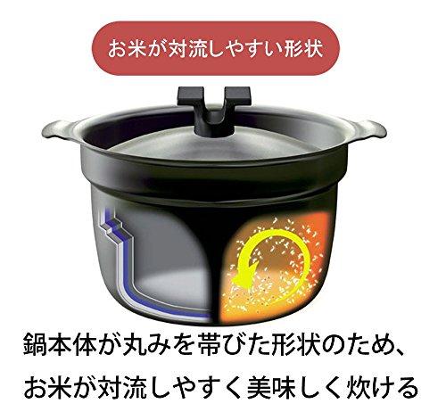 宮崎製作所ライスポット炊飯鍋T-タイプ【全面チタニウム・アルミニウム・ステンレス3層鋼】2合RP-2T