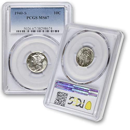 1940 S Silver Mercury Dime 10C MS67 PCGS