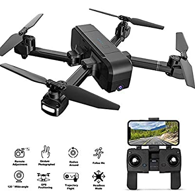 OKPOW GPS Drone with Camera, 1080P HD Wide Angle Camera Drone 5G WIFI FPV Live Video, GPS Return Home Foldable RC Quadcopter for Beginners and Professionals, Long Control Distance