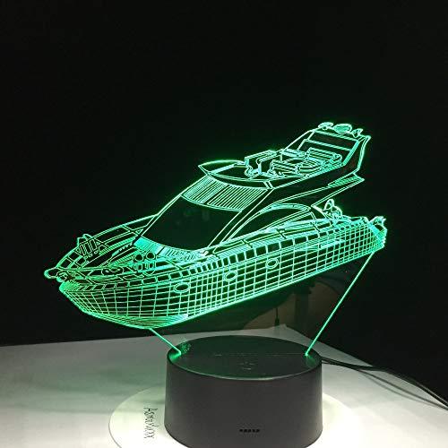 Jiushixw 3D-stereo-kleur nachtlampje met afstandsbediening glas en eiken tafellamp veters cool lasergravure kinderen creatief cadeau tafellamp basis