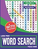 Large Print Word Search Puzzle Book: Extra Large Print Wordsearch Book For Elderly-With 85 Puzzles & Solutions