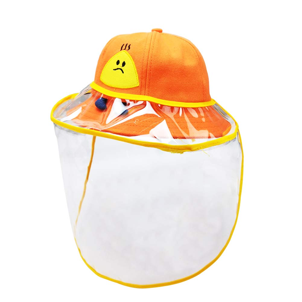 Beb/é Sombrero Protector Facial Ni/ño Ni/ña con Visera Desmontable para Anti-UV Anti-Polvo Verano Gorra de Sol con Pantalla Transparente Infantil Bucket Hat Protecci/ón Solar 0-2 A/ños Happy Cherry