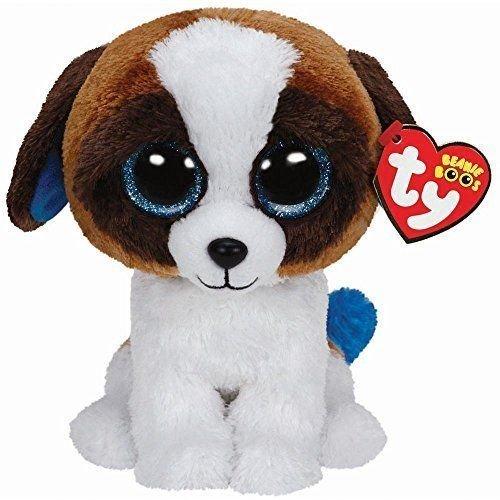 Ty 6`` Duke St. Bernard Dog Beanie Boos Plush Stuffed Animal w/ Heart Tags MWMT's ,#G14E6GE4R-GE 4-TEW6W230807