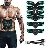 Wsplmm Abs Trainer EMS estimulador Muscular, Recargable Entrenador físico Ropa de Entrenamiento USB con 6 Modelos y 9 Niveles, para Hombres y Mujeres