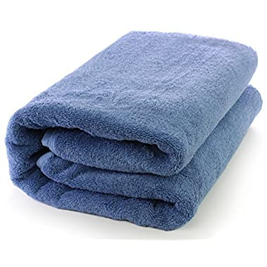 Towel Bazaar Turkish Cotton Large Bath Sheet, Eco-Friendly (Oversized 40x80 inches, Wedgewood)