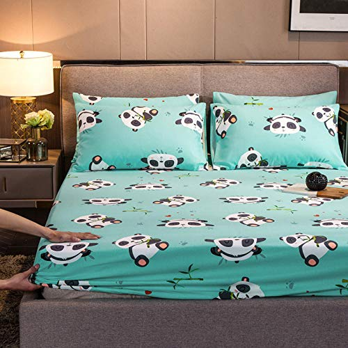 FJMLAY Sábanas de Cama Transpirable,Sábana Bajera de algodón, Protector de colchón Antideslizante para Dormitorio Apartment-U_150cmx200cm