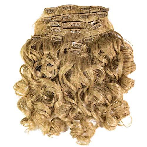 Hair2Heart Extension à Clipser Bouclées Synthétiques 11 Blond Cendré 60 cm 8 Pièces