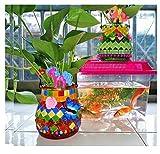Handgemachte Kristallfarbenflaschen, handgemachte Bastelsets, selbstgemachte Vasen@A10