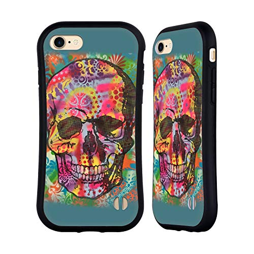 Head Case Designs Oficial Dean Russo Calavera 1UP Cultura Pop 2 Carcasa híbrida Compatible con Apple iPhone 7 / iPhone 8 / iPhone SE 2020
