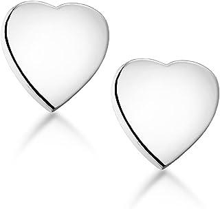Tuscany Silver 女式标准纯银 7 mm 心形耳钉 8.55.4719
