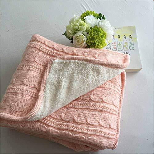 Coperta di lana per letti, coperta in pile super calda in cashmere lavorato a maglia, per letto e divano, in tessuto felpato, stile casual, in microfibra, stile europeo, retrò, autunno e inverno.